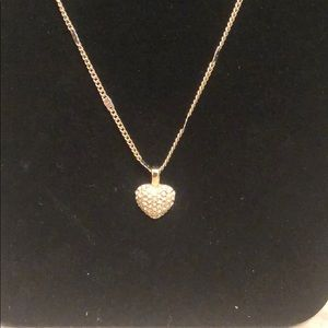 Vera Bradley Jewelry - Vera Bradley Gold/Pave Adjustable Heart Necklace